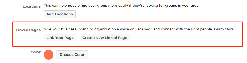 Keep my Facebook group alive: Link a Facebook page you manage to your group