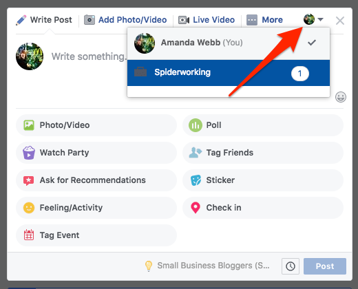Keep my Facebook group alive: Post to your Facebook group as your page