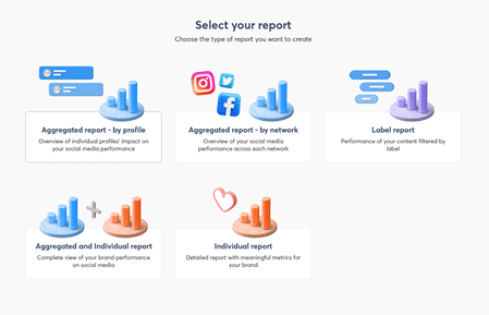 select your report for social media