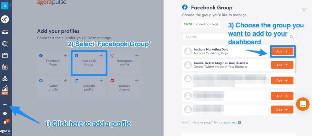 post to facebook groups with agorapulse a social media management platform