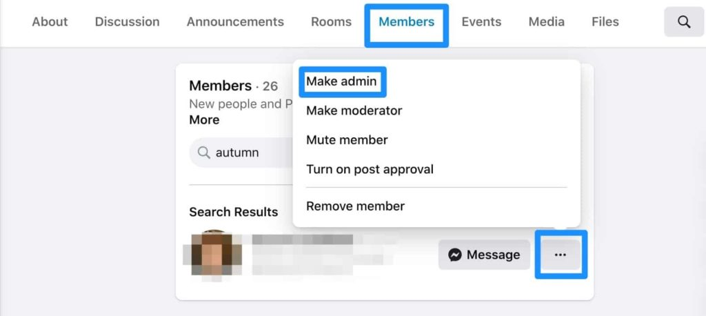 make admin and post to facebook groups