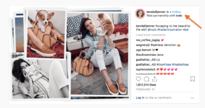 Paid Instagram Influencers-- example post