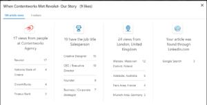 engagement on LinkedIn-- insights data