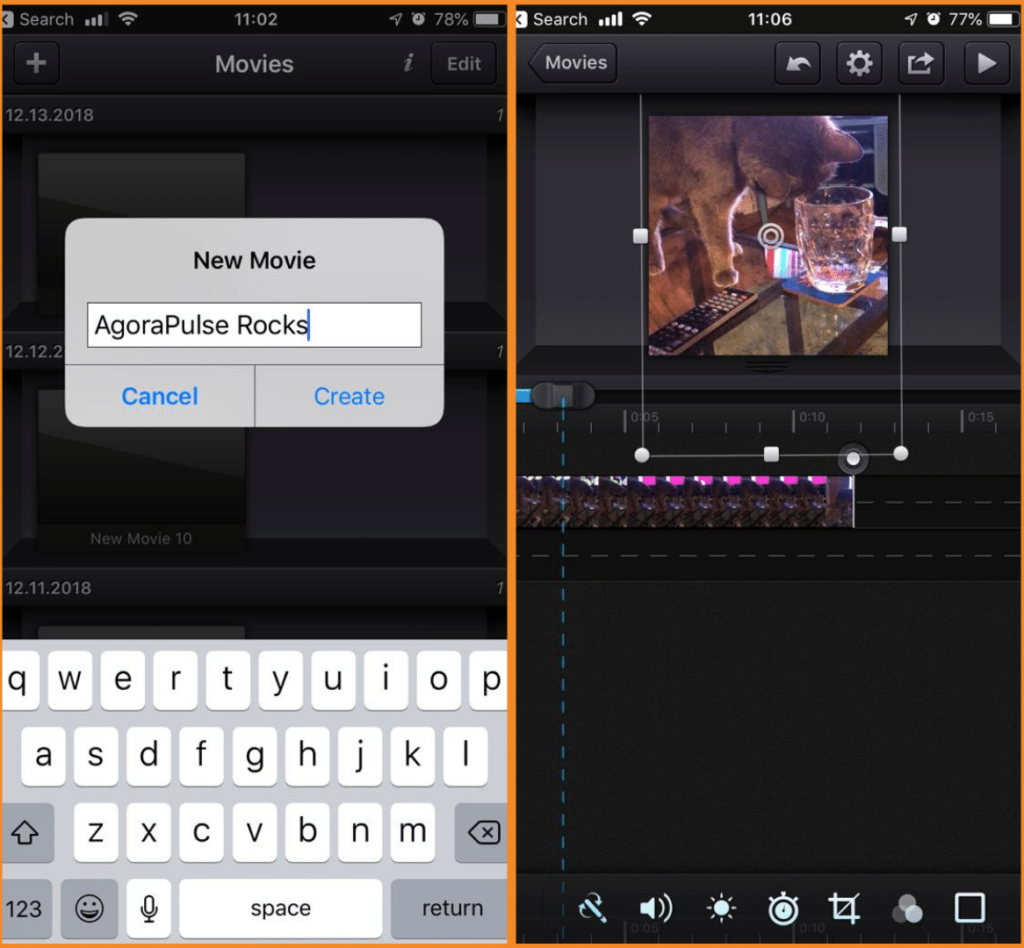 Use CuteCut for quick editing on mobile