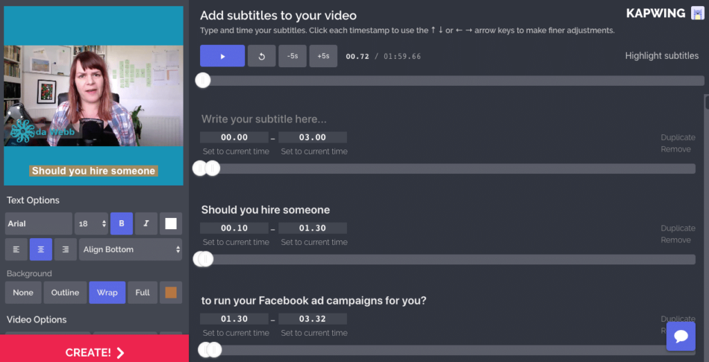 Use Kapwing to burn captions onto your video.