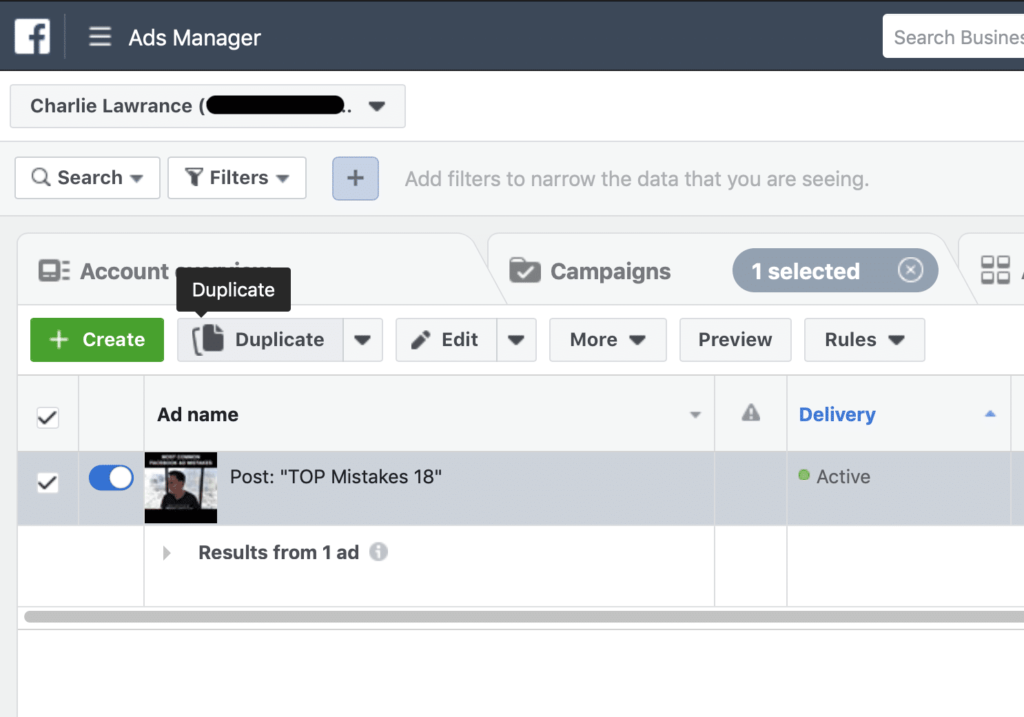 Facebook Ad Campaign Changes Ad Change