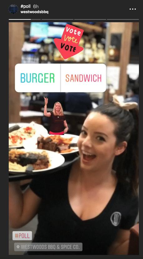 Westwoods BBQ - instagram stickers for brands