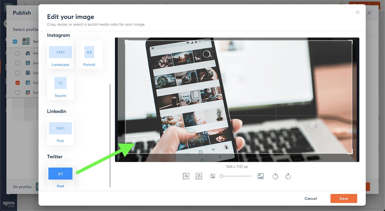 agorapulse image editor