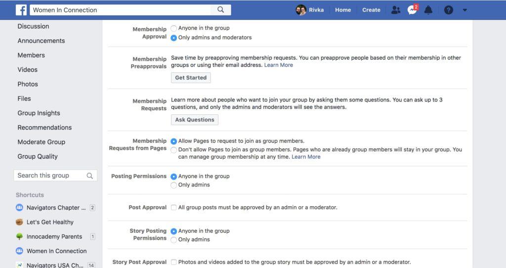 facebook group membership