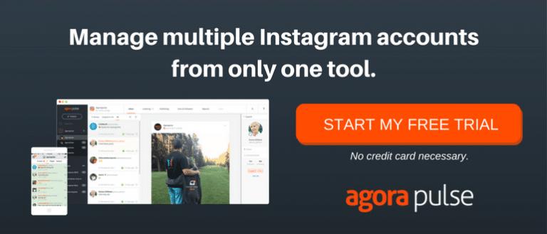 manage instagram accounts on Agorapulse