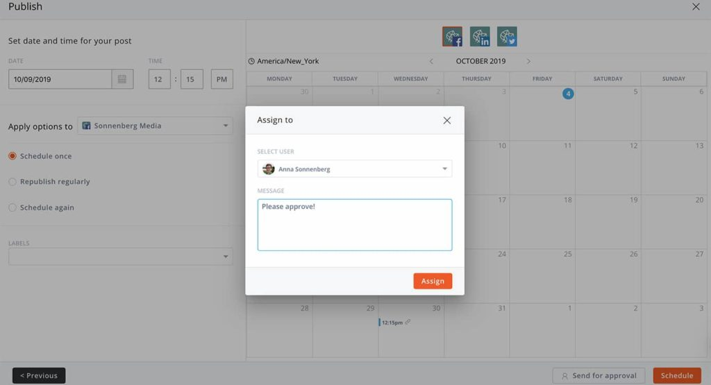 How to use a tool for your social media approval process