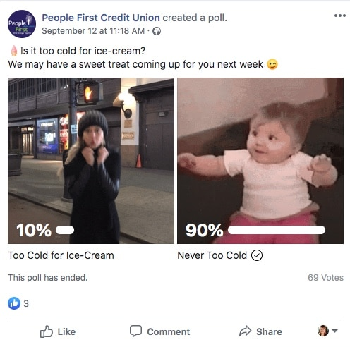 Get quick engagement with your audience using Facebook Polls