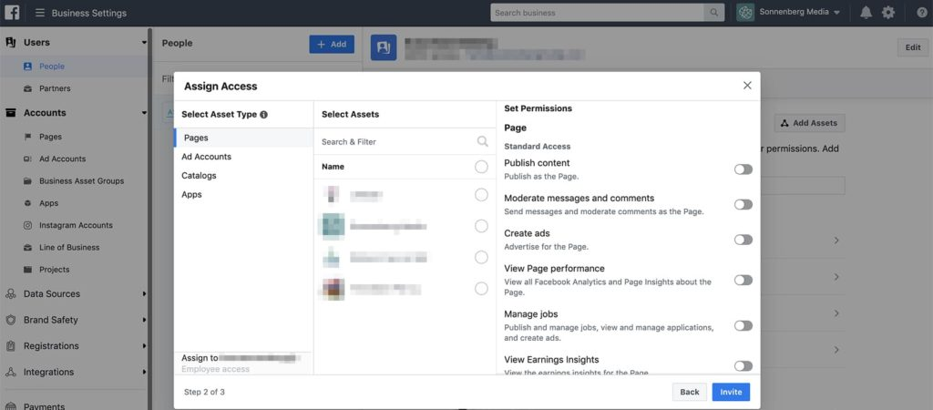 Facebook Business Manager User Permissions