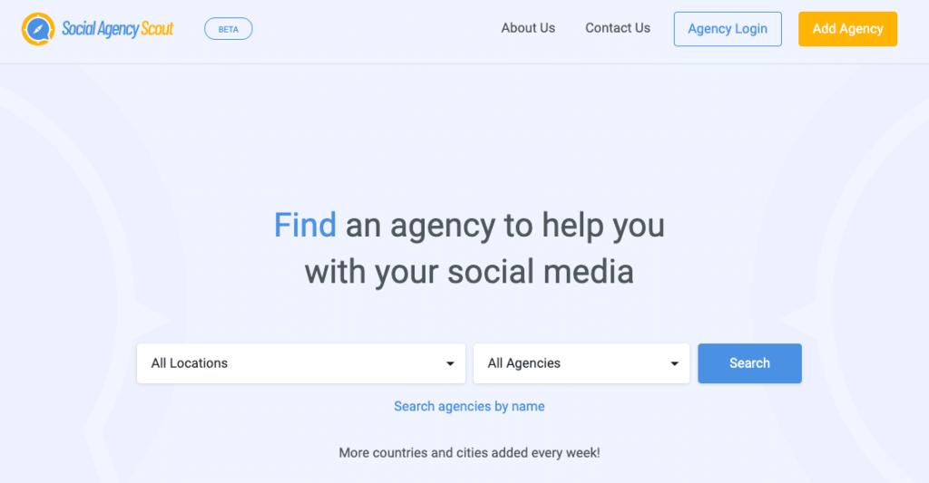 find a social media agency