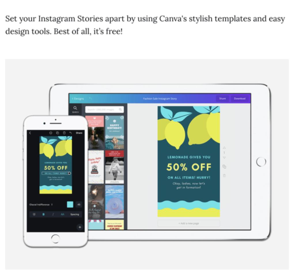 Storyboarding your Instagram Stories