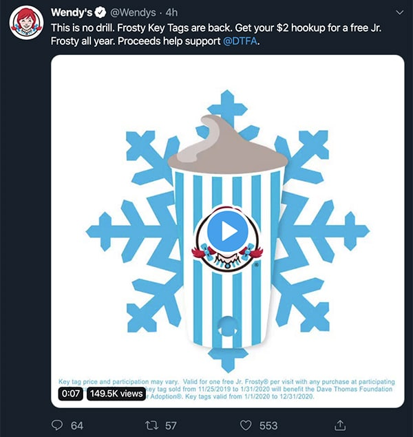 Social Call to Action - Wendys