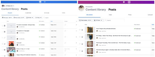 content library posts