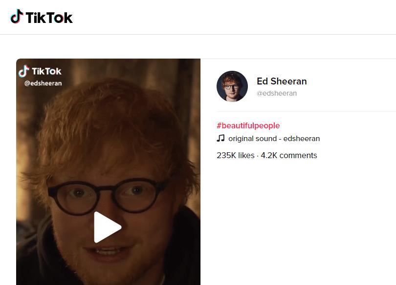 tiktok ed sheeran