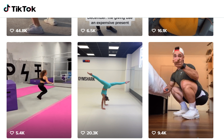 tiktok gym marketing example for social media managers