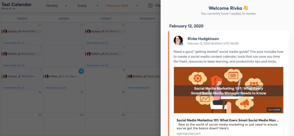 using the shared calendar tool