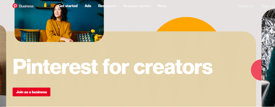 pinterest for creators helps with pinterest for business