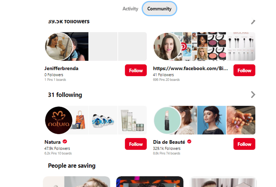 another example of using pinterest for business