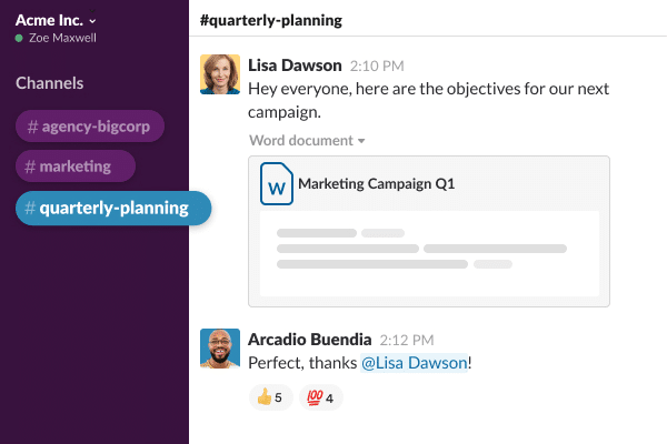 Slack as a tool for remote workers