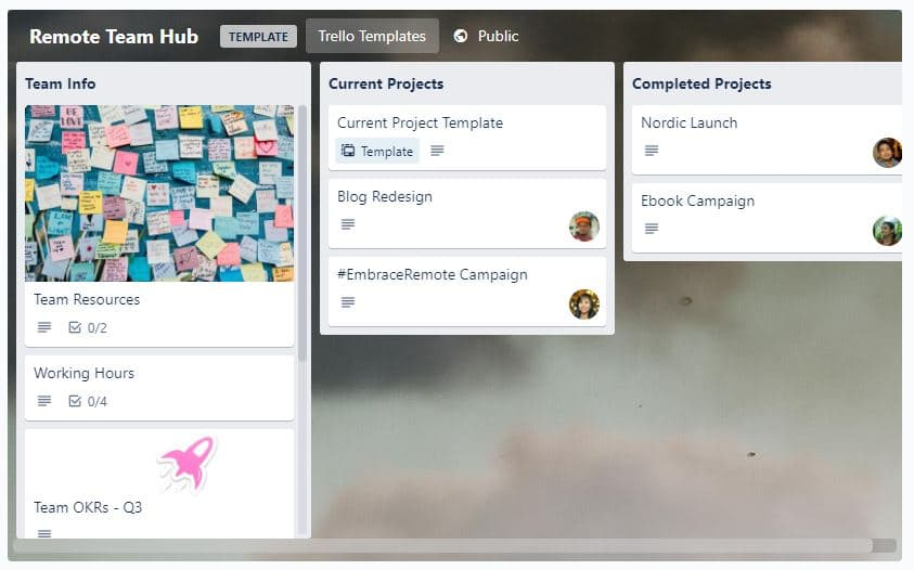 Trello for working from home teams
