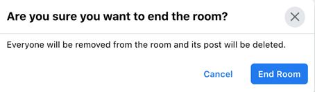 end the room screenshot in facebook messenger
