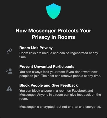 privacy in messenger room