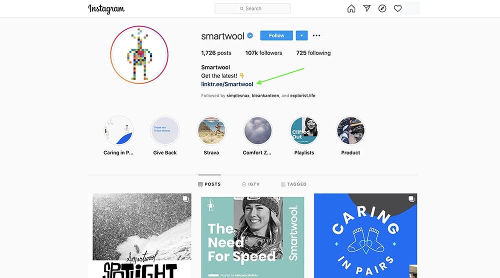 social media landing page - Smartwool 1