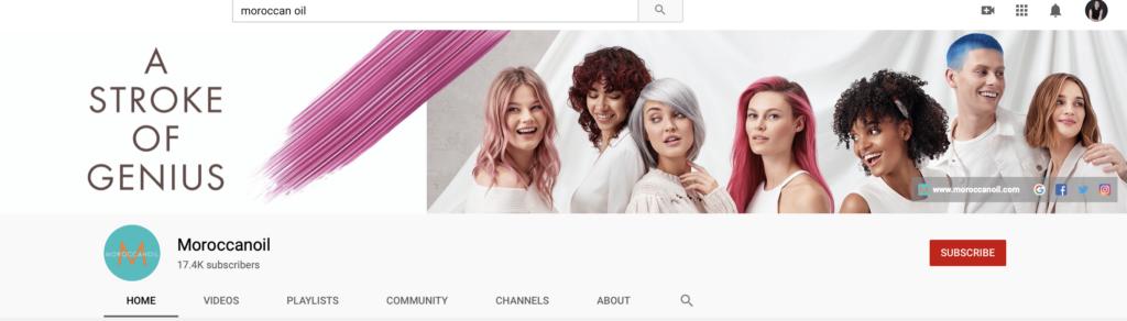 example of youtube branding for header image