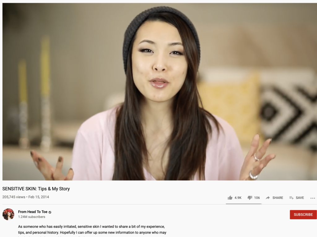 another example of a youtube influener