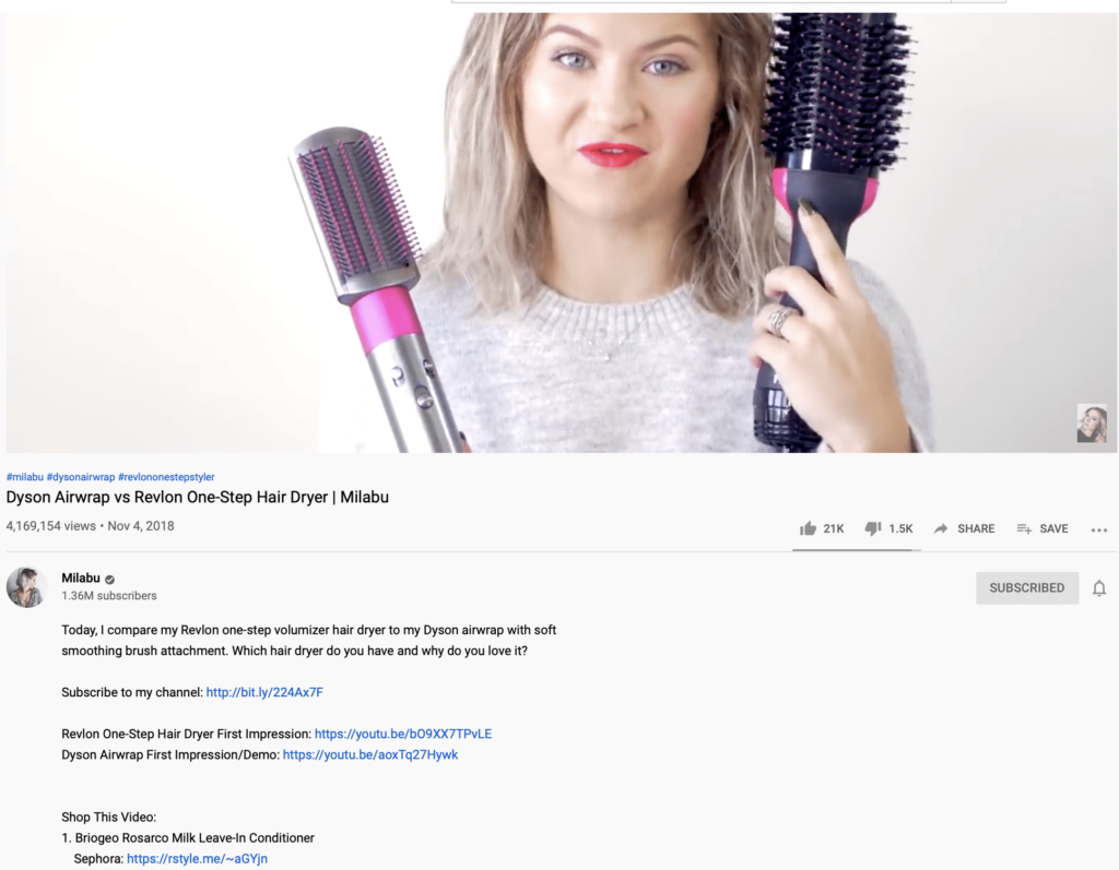 example of a youtube influencer