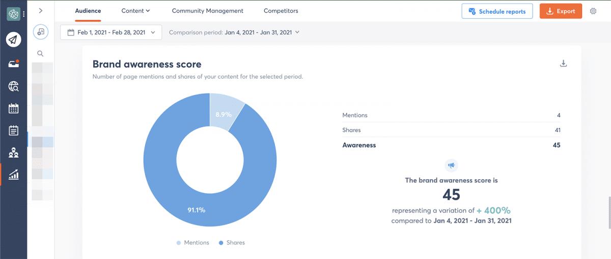 agorapulse how to use facebook business manager brand awareness score
