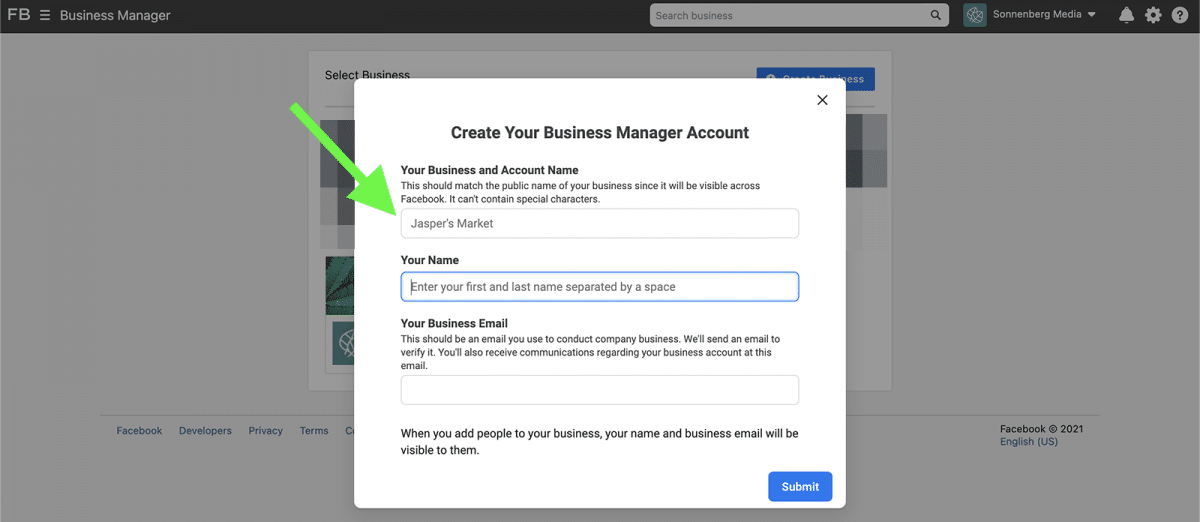 agorapulse how to use facebook business manager create your account