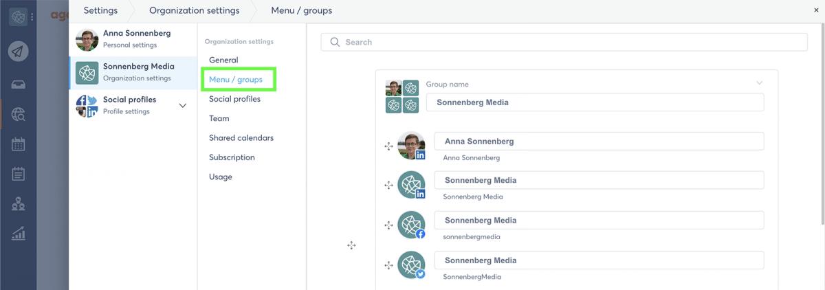 agorapulse how to use facebook business manager menu groups