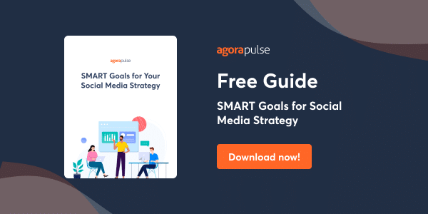 Get a FREE SMART goals ebook to help you plan and conquer your social media marketing strategy.