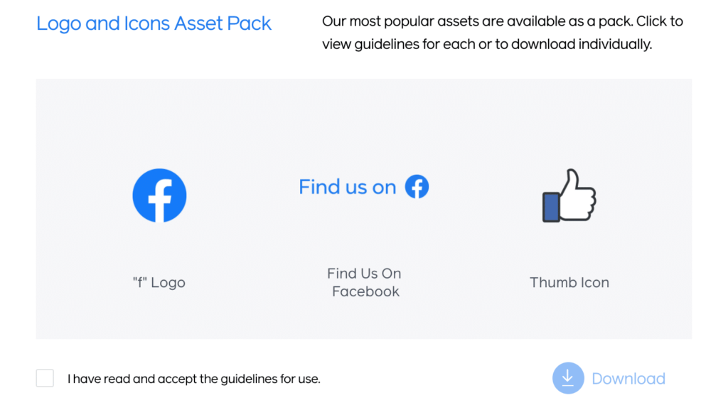 Facebook brand icons