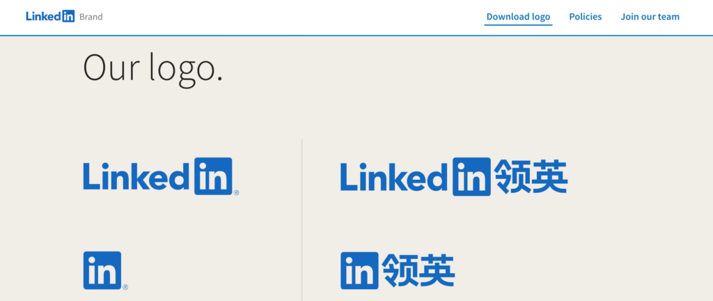 social media icons and content for linkedin