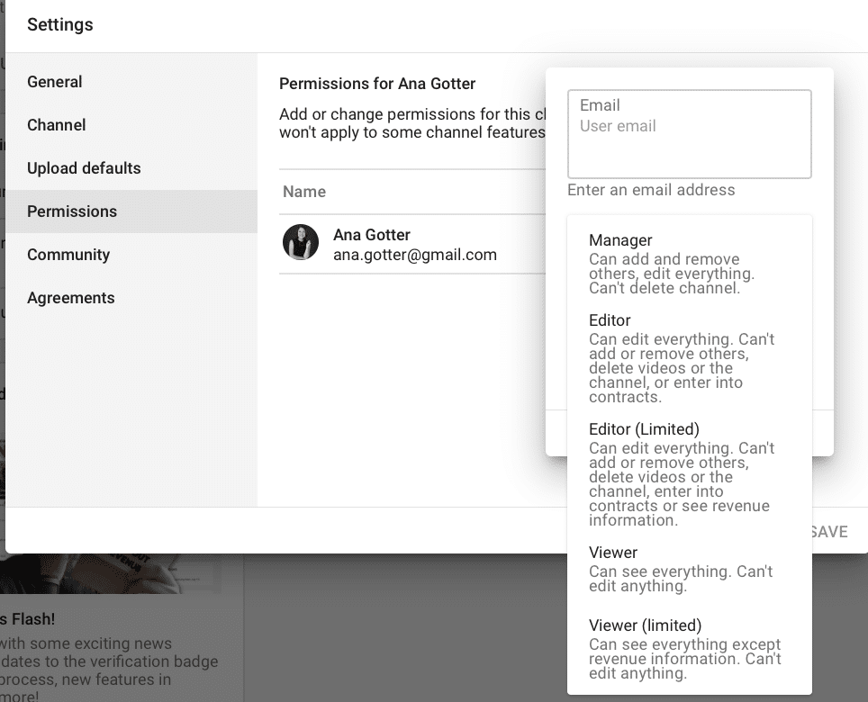 permissions for a personal social login