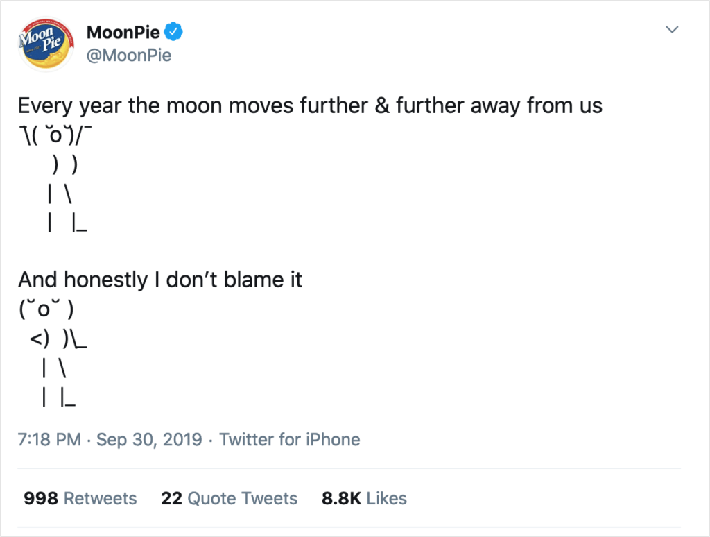 what to tweet: an example from MoonPie