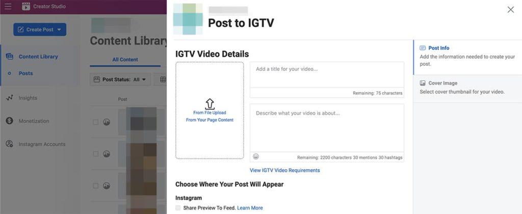 Instagram tools - IGTV