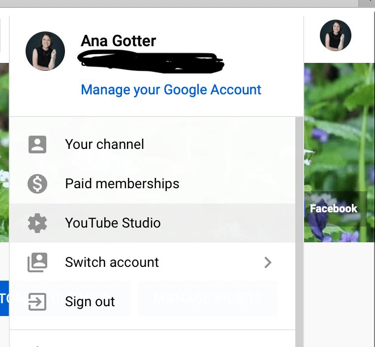 manage Google account
