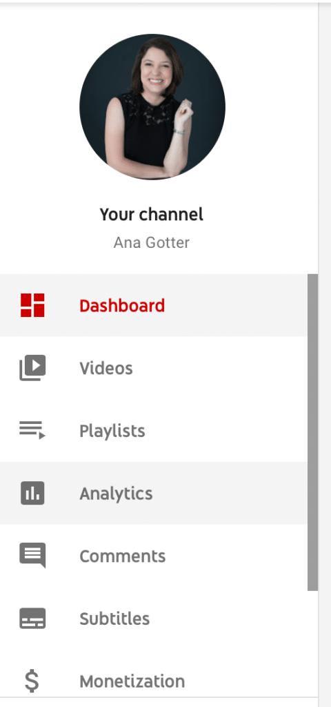 dashboard on youtube