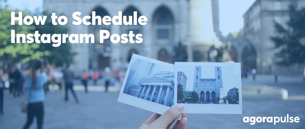 header image for how to schedule instagram posts