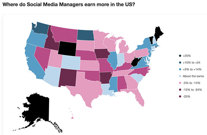 how location affects social media manager salaries - Indeed
