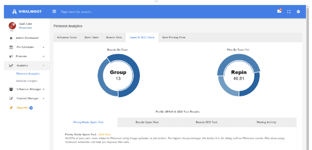social media analytics tools - ViralWoot