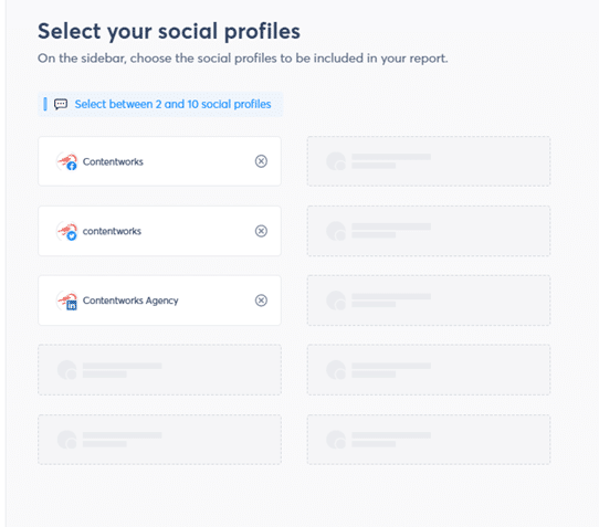 Social Profiles on Power Reports