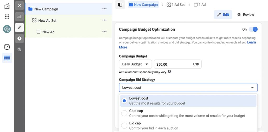 Facebook Ads bid strategies